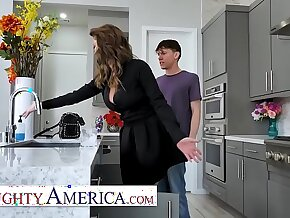 Naughty America Cougar has a college boy take care of her wet pussy